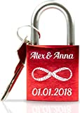 Geschenkfreude ABUS personalisiertes Liebesschloss mit Gravur und...