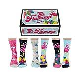 United Oddsocks Go Flamingo Socken für Damen, Größe 37-42 EU / 3-8 UK