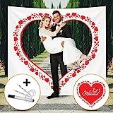 Fairytale Wedding  Hochzeitsherz zum Ausschneiden für Brautpaar -...