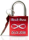ABUS Liebesschloss mit Gravur I Valentinstagsgeschenk für Sie -...