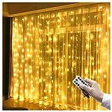 LED Lichtervorhang 3m x 3m, 300 LEDs USB Lichterkettenvorhang IP65...