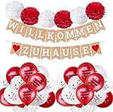 Willkommen Zuhause Banner Girlande,...