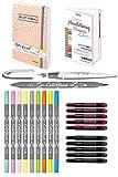 ONLINE Handlettering-Set | 10 Kalligrafie-Stifte Calli.Brush,...