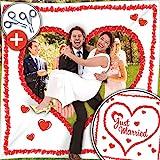 Hochzeitsherz Ausschneiden Set - Stofflaken Herzmotiv & Schlaufen zum...