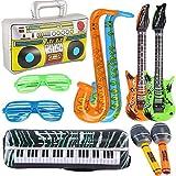 Yojoloin 10 STÜCKE Jumbo Inflatables Gitarre Saxophon Mikrofon Boom Box...