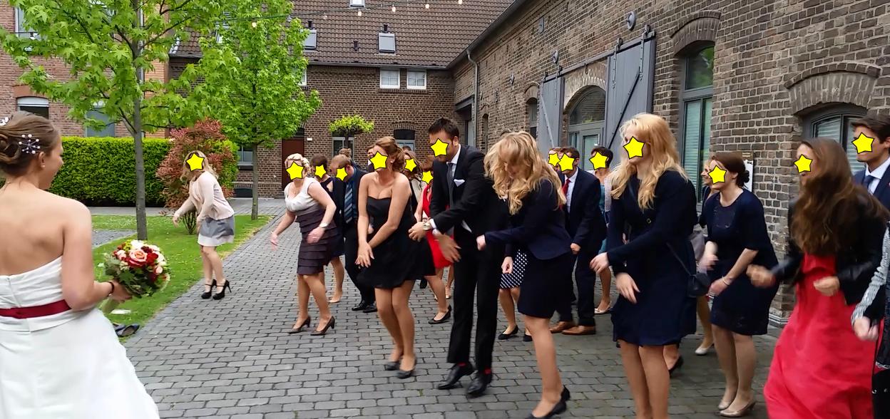 Flashmob zur Hochzeit