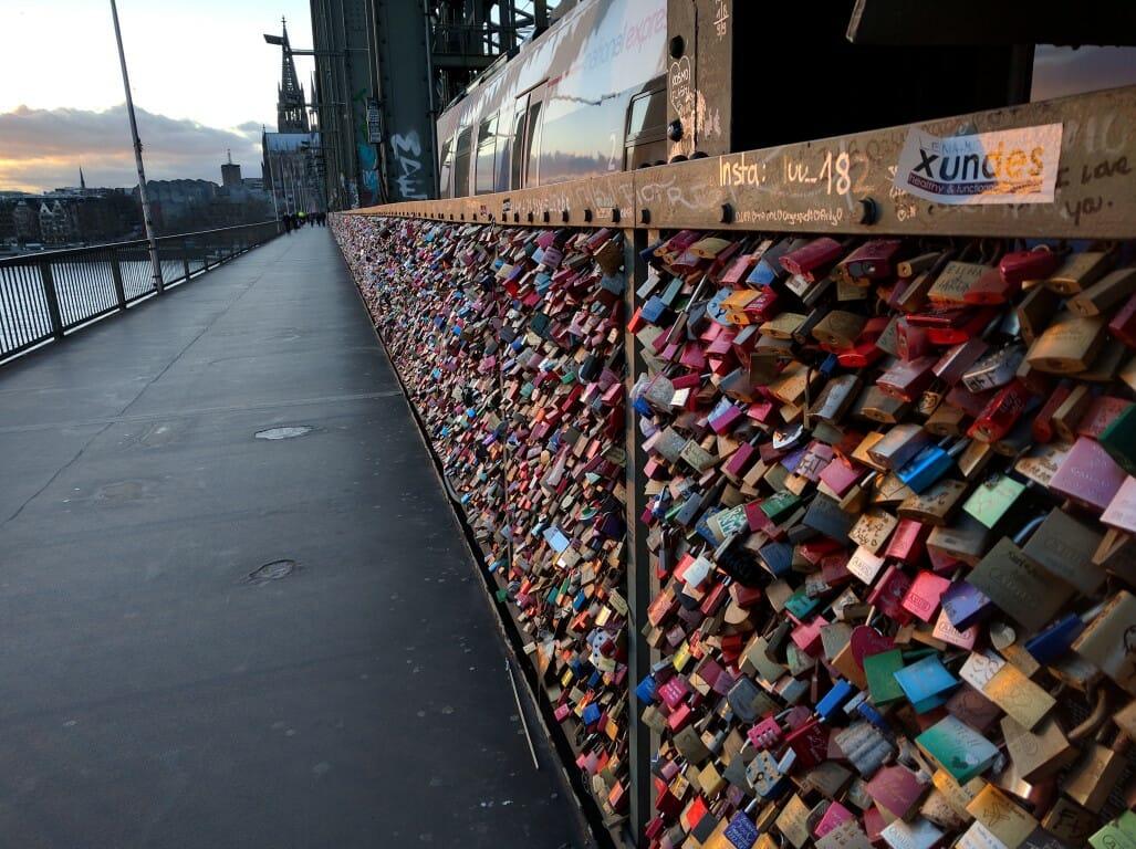 Liebesschloss am Rhein