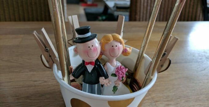 Einfache Geschenkidee für das Brautpaar